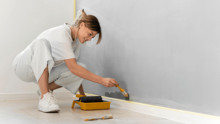 cutting in painting and decorating